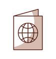 shadow passport cartoon vector image vector image