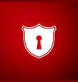 shield with keyhole icon protection and security vector image vector image