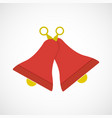 simple flat red and yellow bells vector image