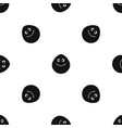 smiling lime pattern seamless black vector image vector image