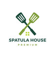 spatula house logo icon vector image
