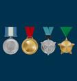 sport awards military rosettes leadership golden vector image vector image