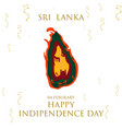 sri lanka detailed map with flag colors and import vector image vector image