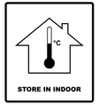 Store in indoor Temperature sign Cargo shipping vector image vector image