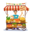 Street Seller vector image vector image