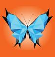 stylized triangle poligonal blue morpho didius vector image vector image