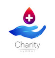 Symbol of charity sign hand