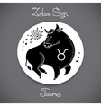 Taurus zodiac sign of horoscope circle emblem in vector image vector image