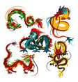 traditional chinese dragon ancient symbol of vector image vector image