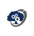 tree gear landscaping ecology vector image
