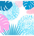 trendy tropical design leaves palm monstera vector image