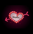 valentine love theater sign style vector image
