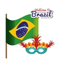 welcome to brazil poster vector image