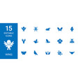 wing icons vector image vector image