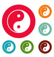 ying yang symbol of harmony and balance vector image