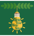 Concept of christmas balls of bulb of idea vector image