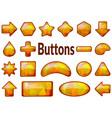 golden glass buttons set vector image