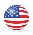 Stars and Stripes button and sticker vector image