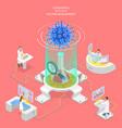 3d isometric concept coronavirus vaccine vector image
