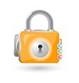 3d lock icon vector image