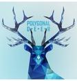 Abstract polygonal deer vector image vector image