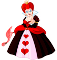 Angry Queen of Hearts vector image vector image
