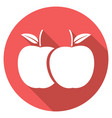 apple with a long shadow vector image