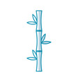 bamboo stem natural icon vector image vector image