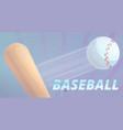 baseball bat and ball concept banner cartoon vector image vector image