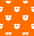 beard and mustache pattern seamless vector image vector image