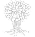 blossom tree coloring book for adult doodles for vector image vector image