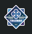 blue talisman template vintage label vector image vector image