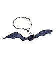 cartoon bat with thought bubble vector image vector image