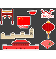 China stickers chinese landmark Forbidden City vector image vector image