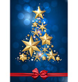 Christmas starry card vector image