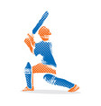 cricket player ready hit shot design vector image vector image