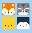 cuta faces animals vector image vector image