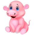 Cute baby hippo cartoon vector image