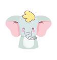 cute elephant little animal cartoon isolated vector image vector image