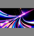 cyberpunk light trails in vector image vector image