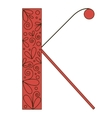 Decorative letter shape Font type K