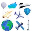 earth atmosphere set vector image