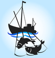 fishing vessel vector image vector image
