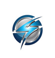 flash planet circle thunder logo design logo vector image vector image