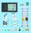 flat chemistry lab equipment set vector image vector image