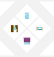 flat icon glass set of glass clean cloud and vector image vector image