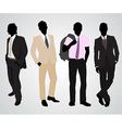 four businessman silhouettes vector image vector image