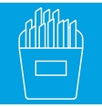 French fries thin line icon vector image