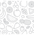 Fruits seamless pattern grey vector image