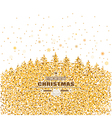 gold and white Christmas card vector image vector image